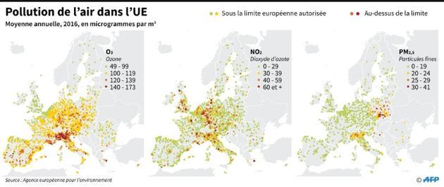 Pollution de l'air dans l'UE [Sophie RAMIS / AFP]