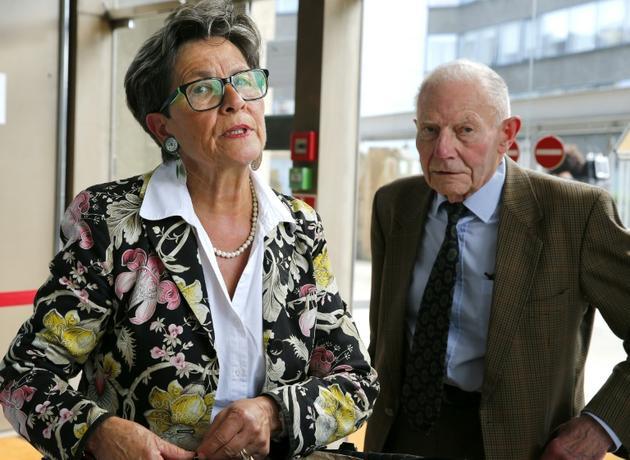 Viviane et Pierre Lambert, les parents de Vincent Lambert, à cour d'appel de Reims le 9 juin 2016 [François NASCIMBENI / AFP/Archives]