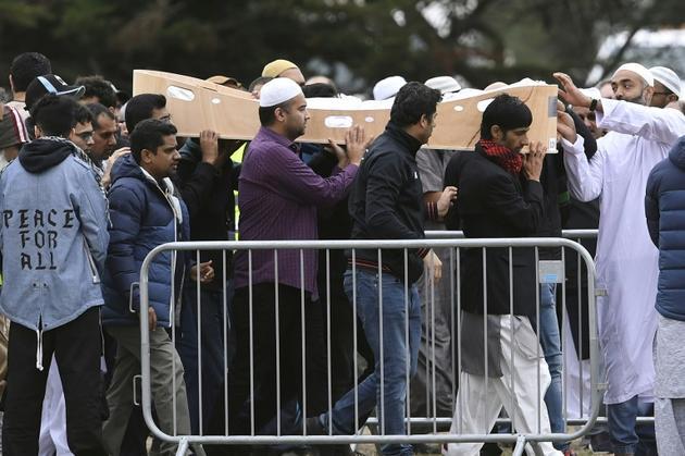 Funérailles d'une victime de la tuerie des mosquées, le 22 mars 2019 à Christchurch [WILLIAM WEST / AFP]