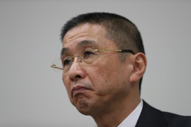Le président exécutif de Nissan, Hiroto Saikawa, lors d'une conférence de presse à Yokohama, le 19 novembre 2018 [Behrouz MEHRI / AFP]