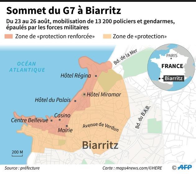 Sommet du G7 à Biarritz [Jean-Michel CORNU / AFP]