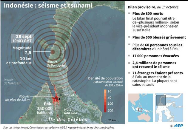 Indonésie : séisme et tsunami [Gal ROMA / AFP]