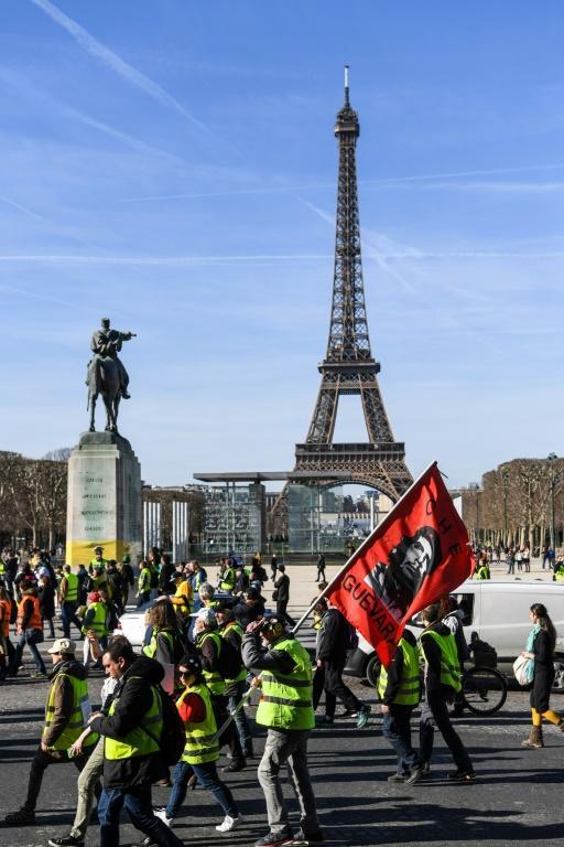 """Nouvelle mobilisation de """"gilets jaunes"""", le 17 février 2019 à Paris  [ERIC FEFERBERG / AFP]"""