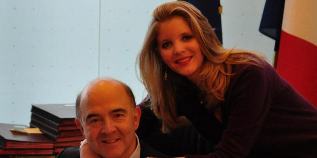 Marie-Charline Pacquot, la compagne de Pierre Moscovici, sort de l'ombre