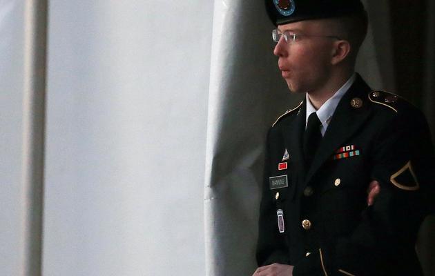 Bradley Manning à Fort Meade, dans le Maryland, le janvier 2013 [Mark Wilson / Getty Images/AFP/Archives]
