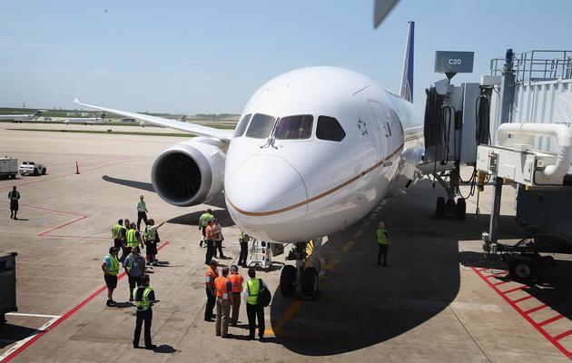 Un Boeing 787 Dreamliner de la compagnie United Airlines, le 20 mai 2013 à Chicago [Scott Olson / Getty Images/AFP/Archives]