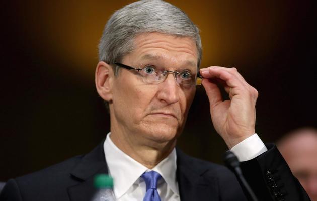 Le patron d'Apple, Tim Cook, le 21 mai 2013 à Washington [Chip Somodevilla / Getty Images/AFP/Archives]