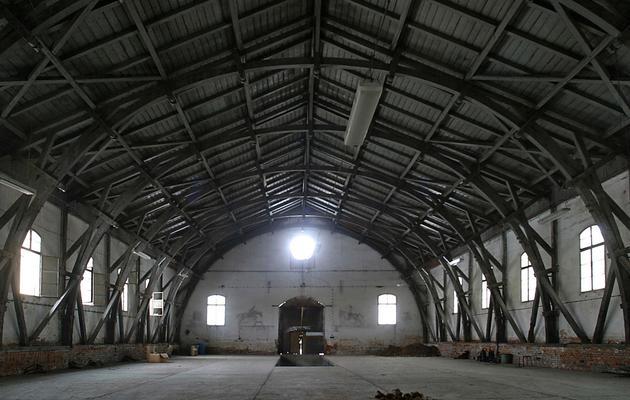 Photo prise le 24 février 2005 d'un bâtiment de Terezin (Theresienstadt en allemand), créée en septembre 1941. [Michal Cizek / AFP/Archives]