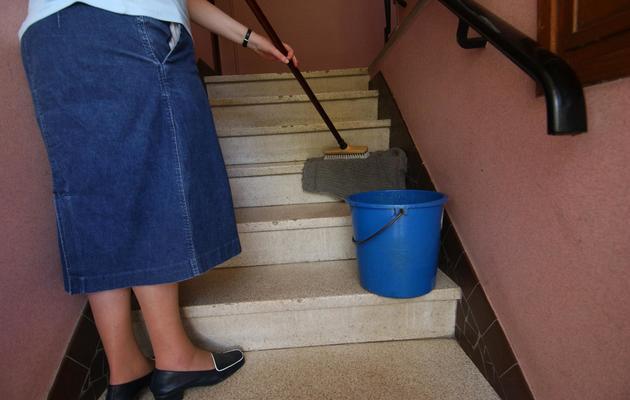 Une femme de ménage [Mychele Daniau / AFP/Archives]