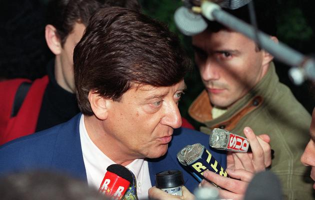 Le journaliste de TF1 Jean-Pierre About interviewé le 13 mai 1993 à Neuilly-sur-Seine [Pascal Pavani / AFP/Archives]