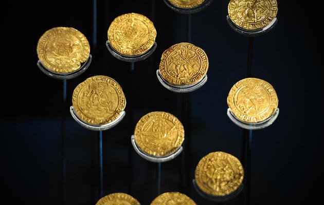 Des pièces retrouvées dans l'épave du Mary Rose et exposées dans le musée consacré à ce navire de guerre, le 7 mai 2013 [Carl Court / AFP/Archives]