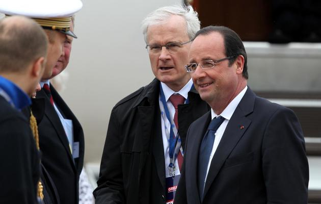 François Hollande arrive à Belfast, le 17 juin 2013 [Peter Muhly / Pool/AFP]