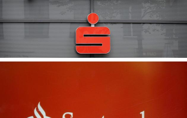 Logo de Santander [John Macdougall/Pedro Armestre / AFP/Archives]