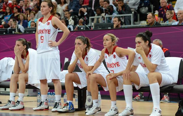 Les basketteuses turques lors des jeux Olympiques, à Londres, le 7 août 2012 [Mark Ralston / AFP/Archives]