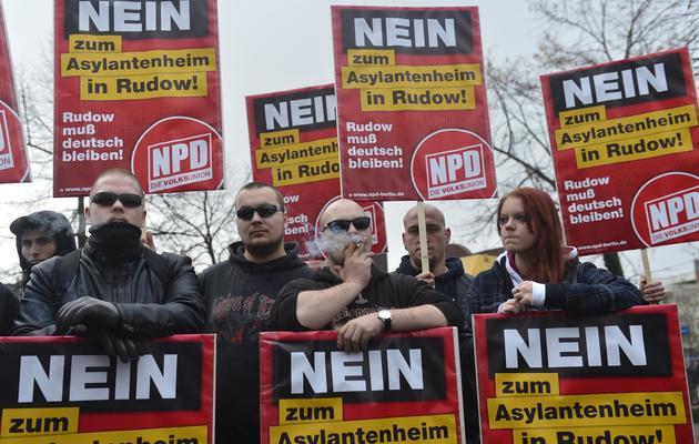 Manifestation de sympathisants du NPD, le 24 novembre 2012 à Berlin [Odd Andersen / AFP/Archives]