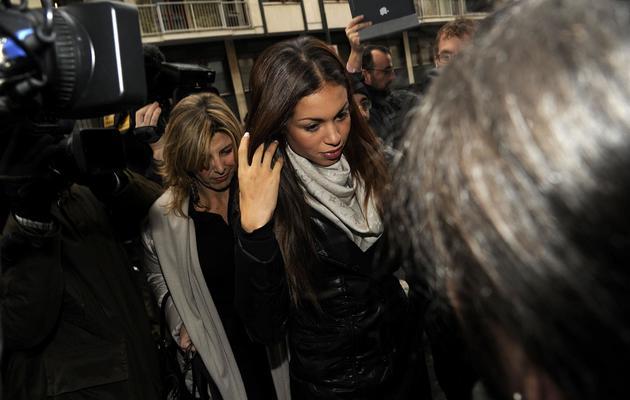 """La jeune Marocaine Karima El Mahroug, alias """"Ruby"""", arrive au tribunal de Milan, le 14 janvier 2013 [Giuseppe Aresu / AFP/Archives]"""
