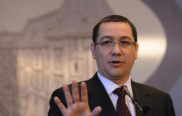 Le Premier ministre roumain Victor Ponta le 11 février 2013 à Bucarest [Daniel Mihailescu / AFP/Archives]