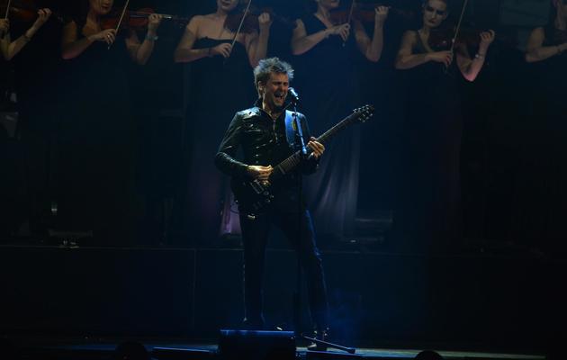 Le chanteur du groupe Muse, Matthew Bellamy, lors d'un concert le 20 février 2013 à Londres [Ben Stansall / AFP/Archives]