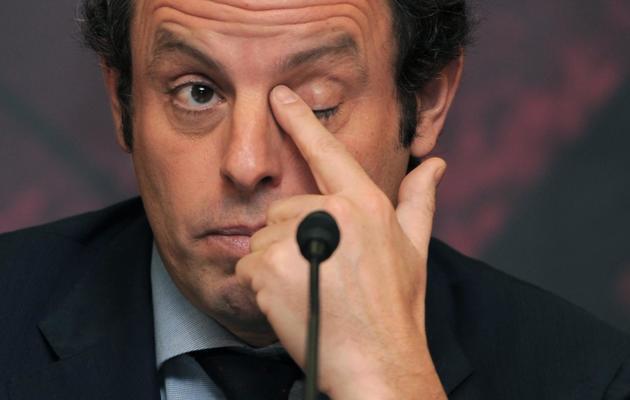 Le président du FC Barcelone Sandro Rosell, au Camp Nou, le 4 mars 2013 [Lluis Gene / AFP/Archives]