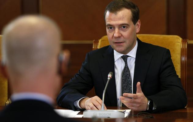 Le Premier ministre russe, Dmitri Medvedev, le 29 mars 2013 à Moscou [Alexander Zemlianichenko / Pool/AFP/Archives]
