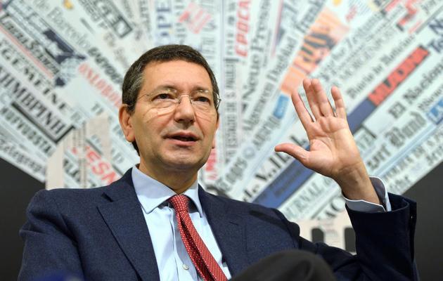 Ignazio Marino, candidat du Parti démocrate (PD), le 12 avril 2013 à Rome [Gabriel Bouys / AFP/Archives]