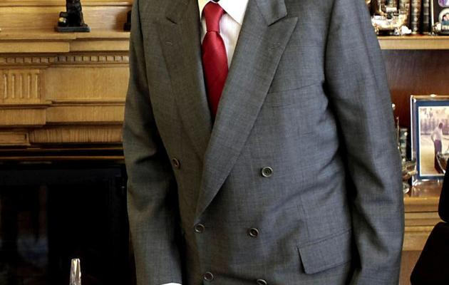 Le roi d'Espagne Juan Carlos, le 22 avril 2013 à Madrid [Angel Diaz / Pool/AFP/Archives]