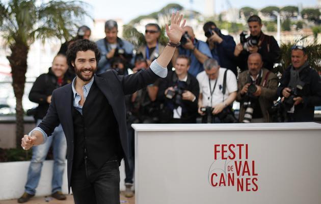 """L'acteur français Tahar Rahim lors de la présentation du film """"Le passé"""" à Cannes, le 17 mai 2013 [Loic Venance / AFP]"""