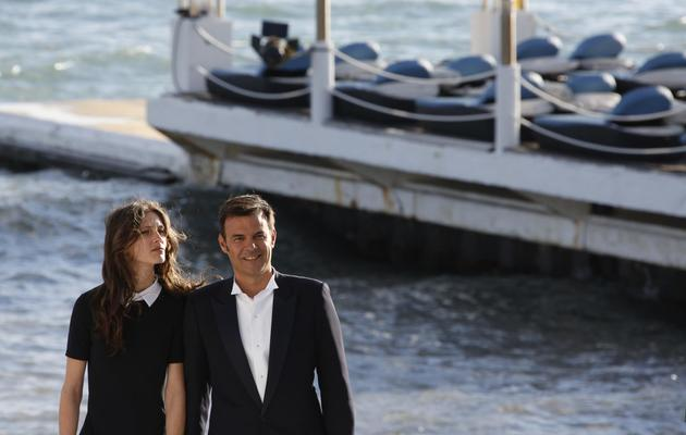 Francois Ozon (d) et l'actrice Marine Vacth, à Cannes, le 17 mai 2013 [Loic Venance / AFP]
