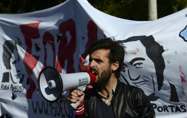 Manifestation contre les mesures d'austérité du gouvernement, le 20 mai 2013 à Lisbonne [Francisco Leong / AFP/Archives]