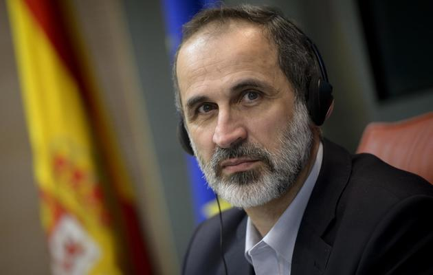 Ahmed Moaz al-Khatib le 21 mai 2013 à Madrid [Dani Pozo / AFP]