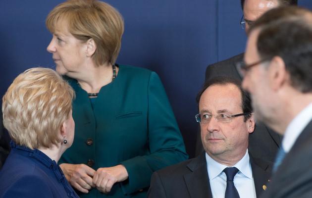 Angela Merkel et François Hollande le 22 mai 2013 à Bruxelles [Bertrand Langlois / AFP/Archives]