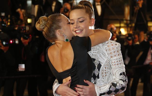Lea Seydoux et Adele Exarchopoulos le 23 mai 2013 à Cannes [Valery Hache / AFP/Archives]
