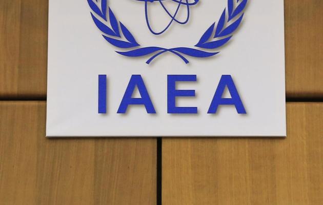 Logo de l'Agence internationale de l'énergie atomique (AIEA) à Vienne, le 4 juin 2013 [Alexander Klein / AFP]