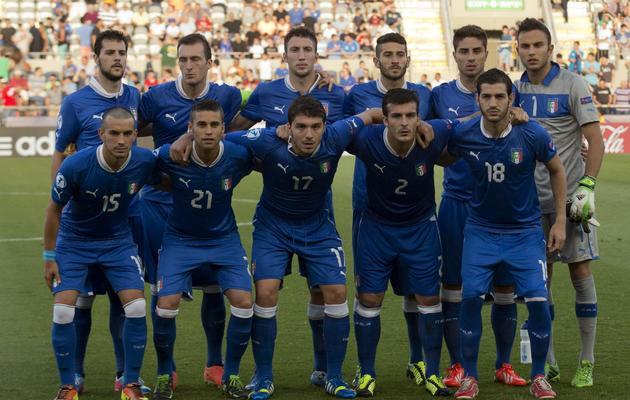 La sélection Espoirs italienne avant un match de l'Euro face à la Norvège, le 11 juin 2013 à Tel Aviv [Jack Guez / AFP]