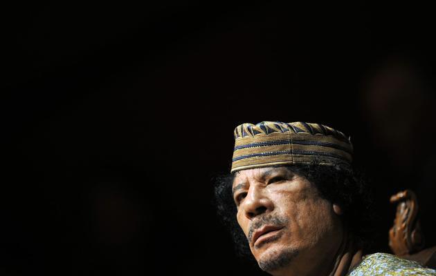 L'ancien leader déchu Mouammar Khadafi, le 12 juin 2009 à Rome [Christophe Simon / AFP/Archives]