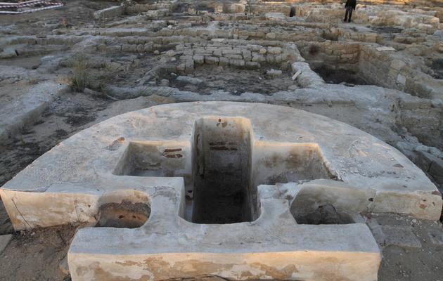 Une photo du 1er décembre 2010 montre les vestiges du monastère Saint-Hilarion, à Tell Oum al-Amr [Mohammed Abed / AFP/Archives]