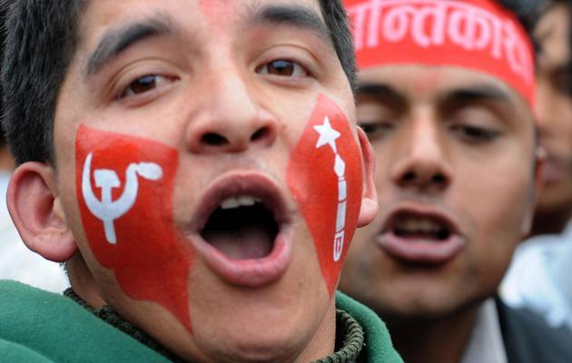 Meeting du parti maoïste à Katmandou le 13 février 2013 [Prakash Mathema / AFP/Archives]
