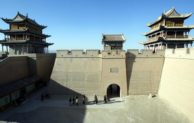 Les portes de la Grande Muraille de Chine à Jiayuguan [ / AFP/Archives]