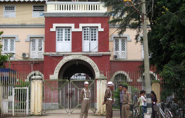 L'entrée de la prison à Rangoun [AFP / AFP/Archives]