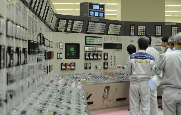 La salle de contrôle du surrégénérateur atomique de Monju, le 6 mai 2010 [Jiji Press / Jiji Press/AFP/Archives]