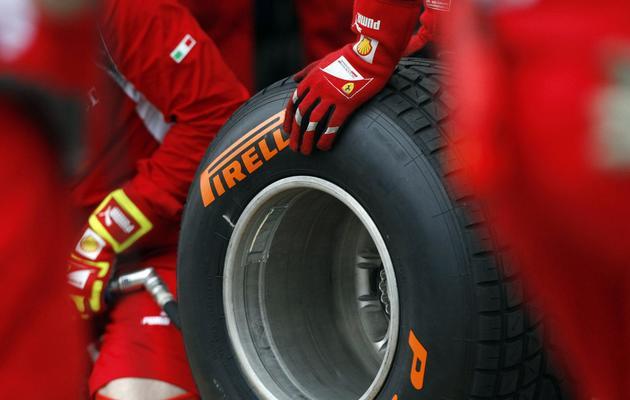 Pneus pluie Pirelli [Daniel Munoz / AFP/Archives]