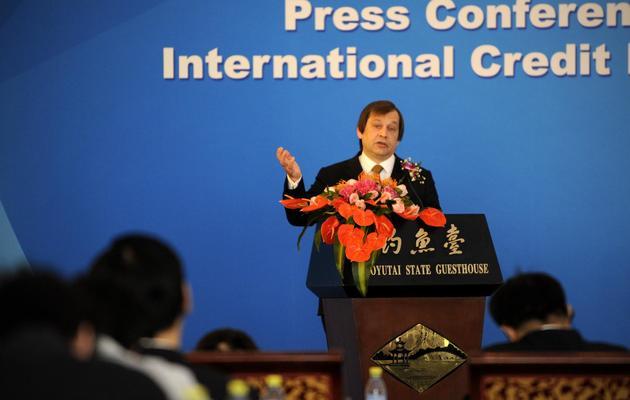 Richard Hainsworth, président de l'agence de notation russe RusRating, le 24 octobre 2012 à Pékin [Wang Zhao / AFP/Archives]