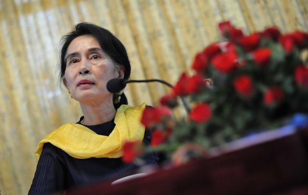 L'opposante birmane  Aung San Suu Kyi, le 10 mai 2013 à Rangoun [Ye Aung Thu / AFP/Archives]