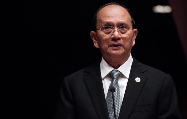 Le président birman Thein Sein, le 29 avril 2013 à Bangkok [Nicolas Asfouri / AFP/Archives]
