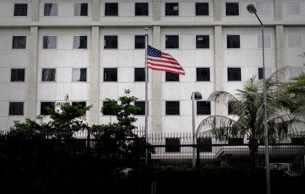 Photographie du 10 juin 2013 prise au consulat américain de Hong Kong [Philippe Lopez / AFP/Archives]