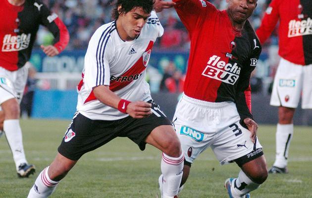 Radamel Falcao, alors joueur de River Plate, lors d'un match contre Colon, le 24 septembre 2006 à Buenos Aires [Juan Vargas / AFP/Archives]