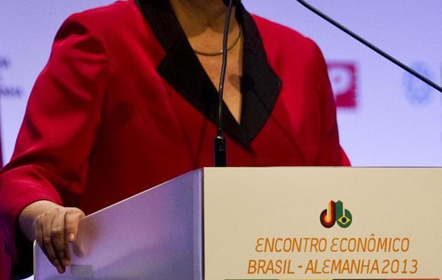 La présidente du Brésil Dilma Rousseff, le 13 mai 2013 à Sao Paul au Brésil [Nelson Almeida / AFP/Archives]