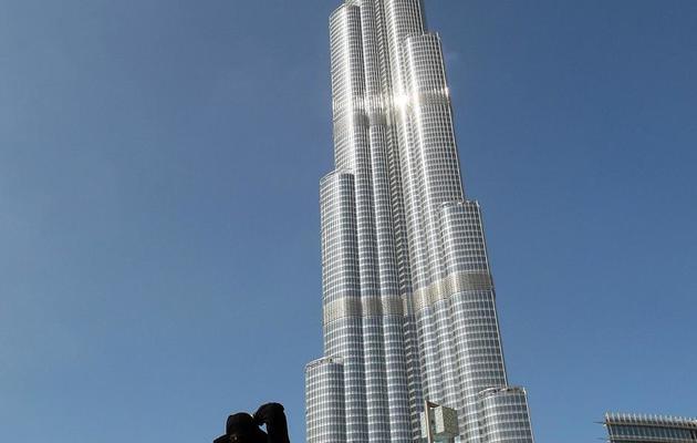 Le Burj Khalifa, l'immeuble le plus haut du monde, à Dubaï le 3 janvier 2010 [Karim Sahib / AFP/Archives]