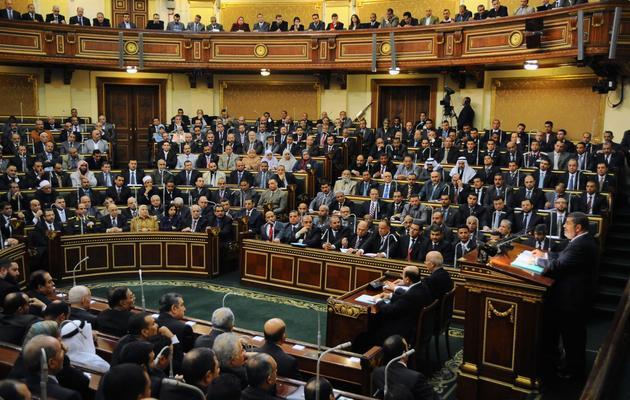Le président égyptien Mohamed Morsi en train de s'adresser au Sénat, le 29 décembre 2012 au Caire [ / Présidence égyptienne/AFP/Archives]