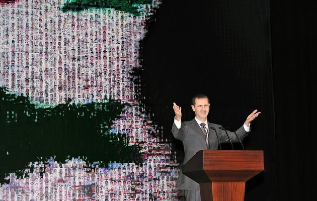 Une photo du président syrien Bachar al-Assad, fournie par l'agence Sana, lors d'un discours à l'opéra de Damas, le 6 janvier 2013 [ / Sana/AFP/Archives]